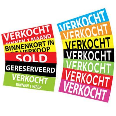 verkocht-stickers makelaar