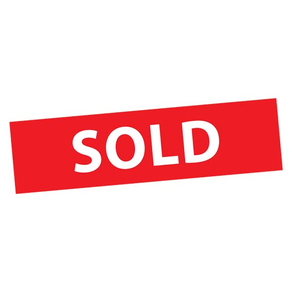 Sold Sticker rood wit